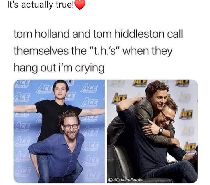 Memes tom Hiddleston Tom holland