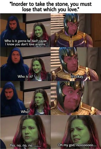 Memes Thanos and Gamora