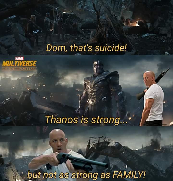 Memes dom vs Thanos family meme