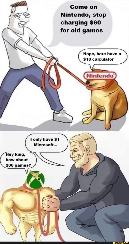 Memes Nintendo vs Xbox