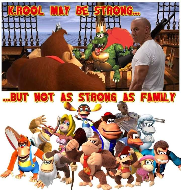 Memes donkey Kong Country family dom