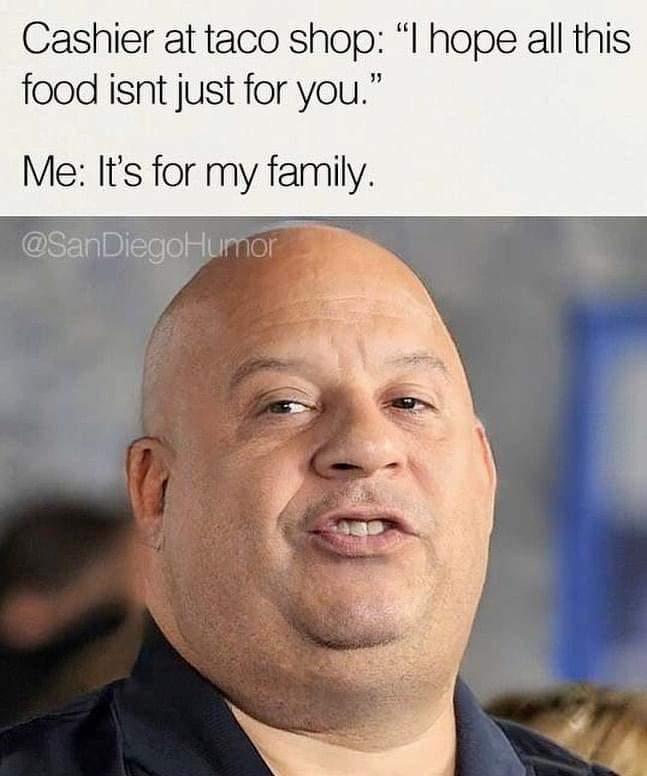 Memes taco eating