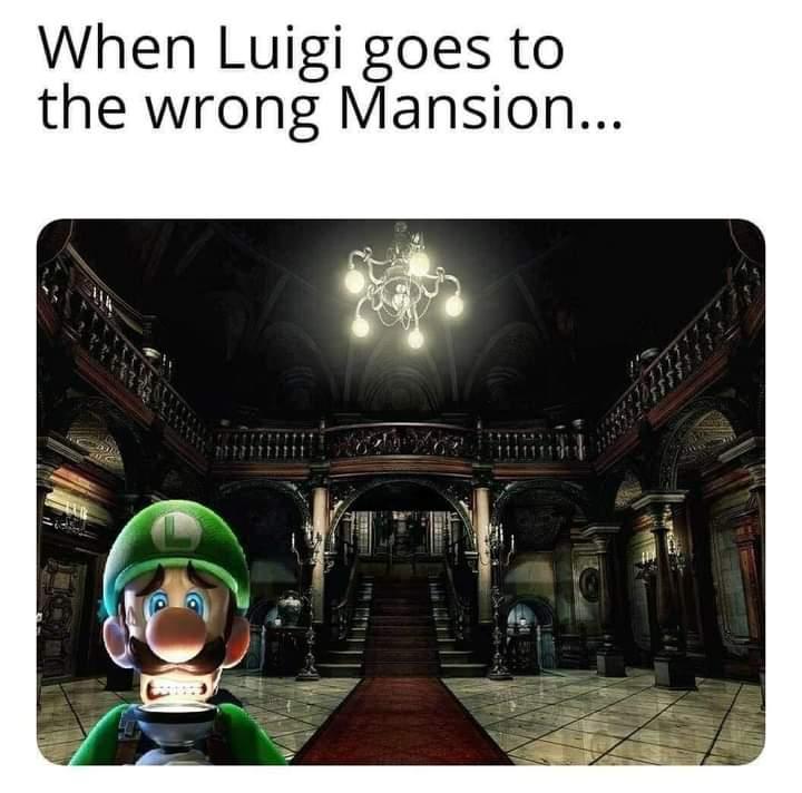 Memes luigi's Mansion resident evil