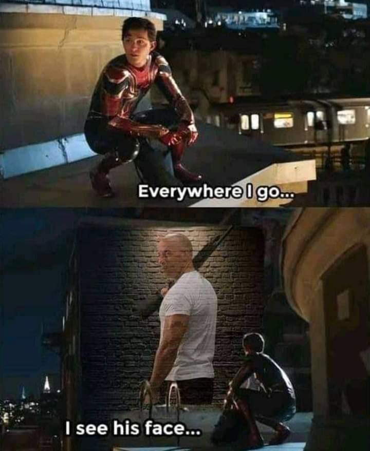 Memes vin diesel dom family Spider-Man Far from home