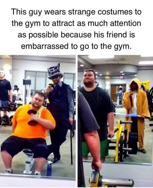 Memes fat guy at the gym