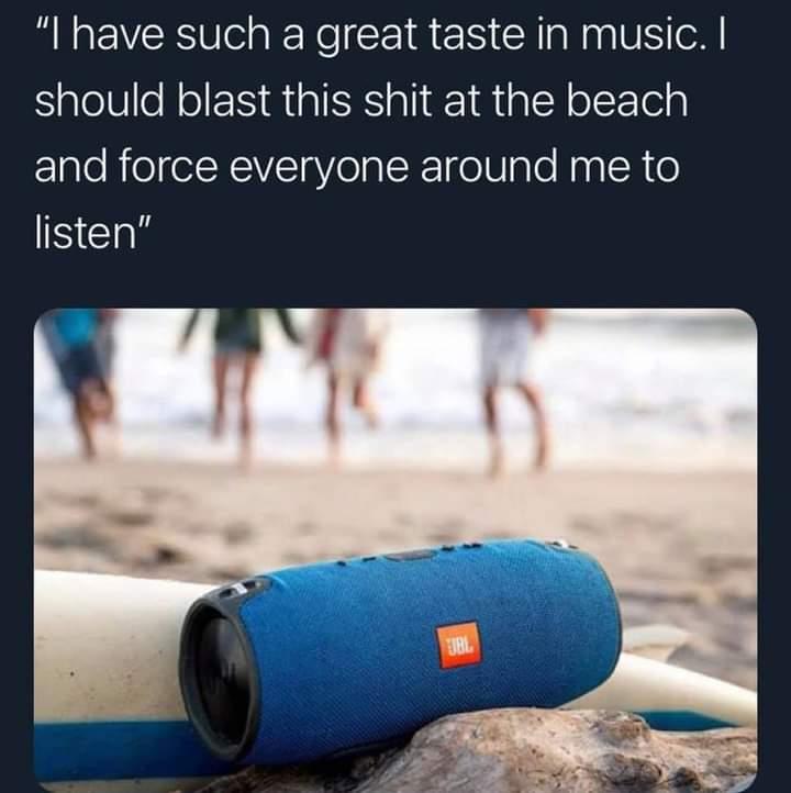 Memes Beach music speakers