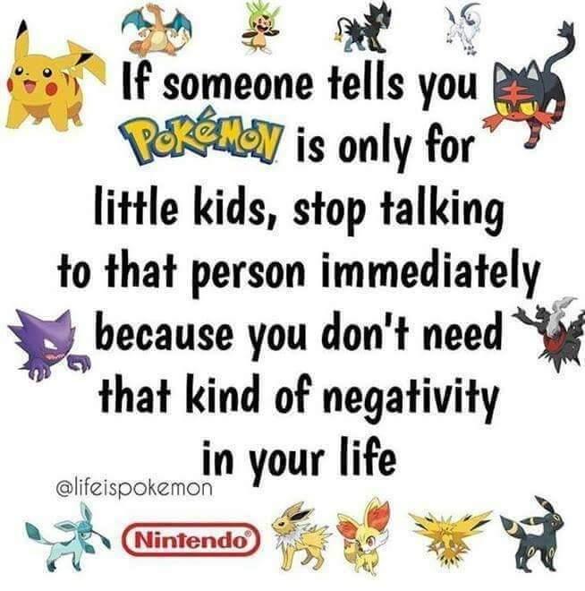 Memes adults who enjoy pokemon