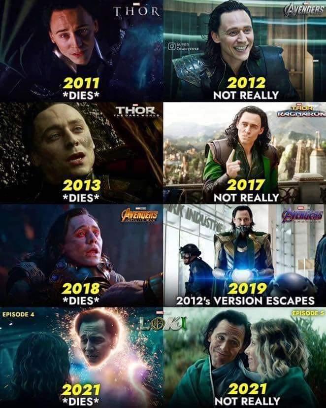 Memes loki death and revival mcu tom Hiddleston