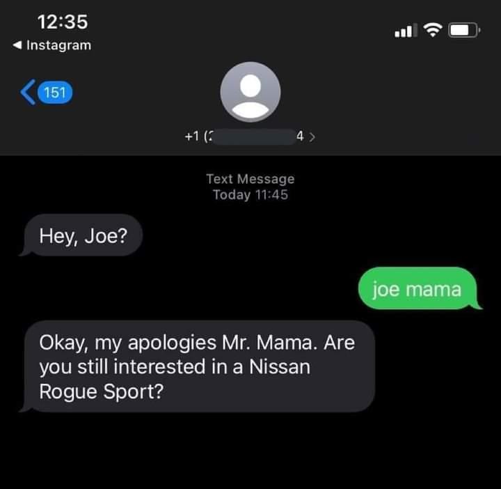 Memes joe mama