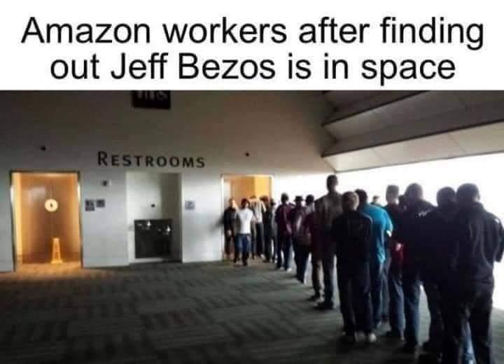 Memes Amazon workers bathroom breaks