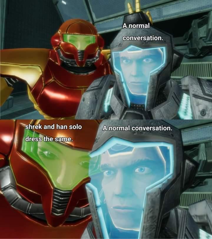 Memes han solo shrek dress the same