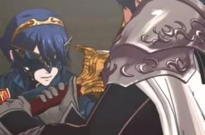 Lucina and Chrom duel with swords Fire Emblem Awakening Nintendo 3DS