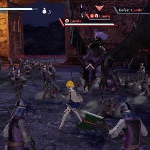 Battling Camilla Fire Emblem Warriors Nintendo Switch