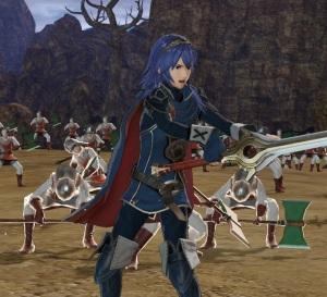 Playing as Lucina Fire Emblem Warriors Nintendo Switch