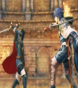 Marth-Lucina vs Chrom sword duel Fire Emblem Warriors Nintendo Switch