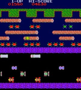 Frogger level 1 arcade