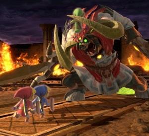 Toon Links vs Ganon boss super Smash Bros ultimate Nintendo Switch