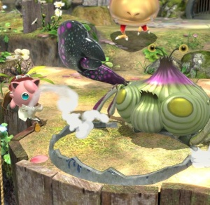 Giant alien crab Garden of Hope Stage super Smash Bros ultimate Nintendo Switch Pikmin