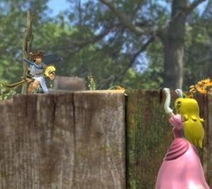 Pit vs princess peach Garden of Hope Stage super Smash Bros ultimate Nintendo Switch Pikmin