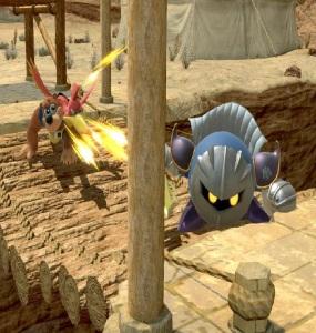Banjo and Kazooie vs meta knight Gerudo Valley stage super Smash Bros ultimate Nintendo Switch the Legend of Zelda