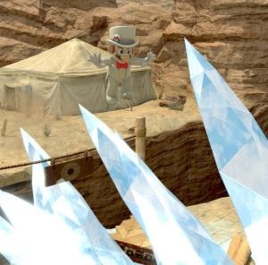 Ice shards Gerudo Valley stage super Smash Bros ultimate Nintendo Switch the Legend of Zelda