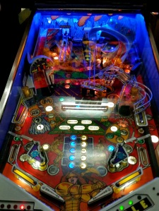 Gladiators Pinball board