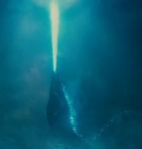 Godzilla: King of the Monsters Godzilla using atomic breath