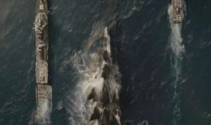 American battleships Godzilla 2014
