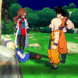 Krillin meets Android 21 dragon Ball FighterZ Nintendo Switch Xbox One PS4