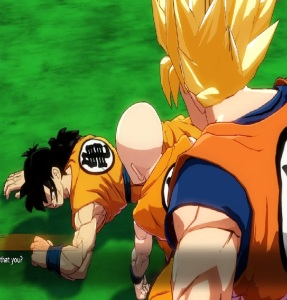 Yamcha hurt by Androids dragon Ball FighterZ Nintendo Switch Xbox One PS4