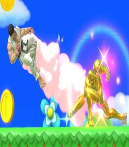 Ryu vs Samus Golden Plains stage super Smash Bros ultimate Nintendo Switch