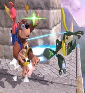 Greninja kicks banjo and Kazooie super Smash Bros ultimate Nintendo Switch Pokémon