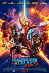 Guardians of the Galaxy Vol. 2 movie poster Chris pratt Zoe Saldana