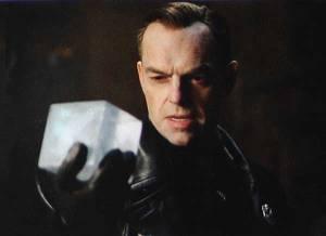 Captain America the first Avenger red skull finds cosmic cube Hugo weaving