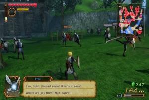 Link fighting in battle Hyrule Warriors Nintendo WiiU