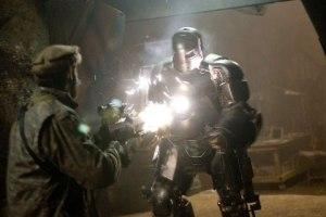 Iron man Tony stark builds first suit mark i