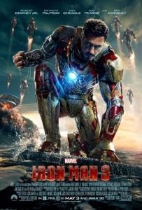 Iron man 3 movie poster tony stark Robert Downey Jr