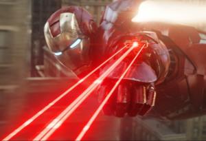 The Avengers Iron Man shooting laser beams Robert Downey Jr