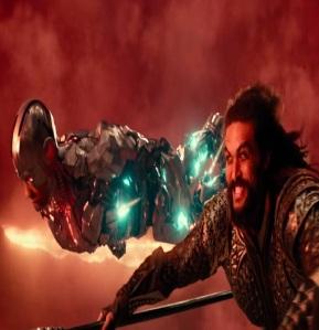 Aquaman and cyborg Justice League 2017 Jason mamoa