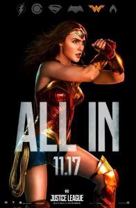 Justice League movie poster wonder woman gal Gadot