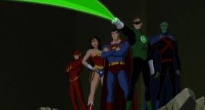Green lantern superman wonder woman Martian man hunter Justice League: Doom