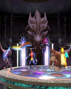 Shulk vs donkey Kong Kalos Pokémon league stage super Smash Bros ultimate Nintendo Switch