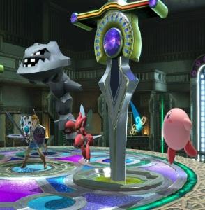 Link vs Kirby Kalos Pokémon league stage super Smash Bros ultimate Nintendo Switch