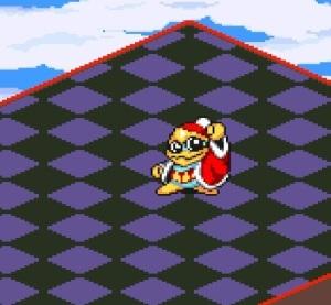 Final boss King Dedede Kirby's Dream Course super Nintendo snes
