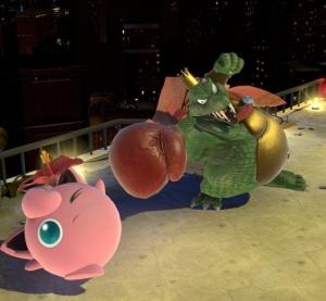 King K Rool hitting jigglypuff with boxing glove super Smash Bros ultimate Nintendo Switch