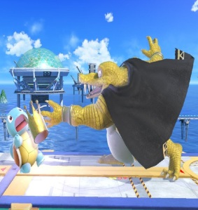 King K Rool throwing crown at squirtle super Smash Bros ultimate Nintendo Switch