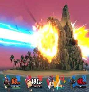 Donkey Kong Island destroyed final Smash King K Rool super Smash Bros ultimate Nintendo Switch