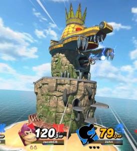 Laser tower final Smash King K Rool super Smash Bros ultimate Nintendo Switch