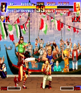 King of Fighters 94 mai SHIRANUI vs andy Bogard SNK