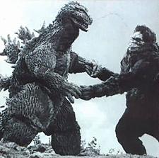 King Kong vs Godzilla 1962 Godzilla and King Kong holding hands